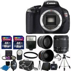 Canon EOS Rebel T3I 600D SLR Camera + 3 Lens 18-55 IS +24GB KIT & More Brand New. Deal Price: $589.00. List Price: $699.00. Visit http://dealtodeals.com/top-trending-deals/canon-eos-rebel-t3i-600d-slr-camera-lens-24gb-kit-brand/d13858/camera-photo/c45/