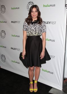 Michaela Conlin at the 2012 PaleyFest Honors - Bones, photo by Retna. Fame Game