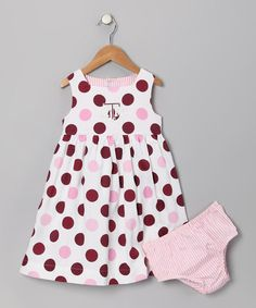 Gig 'Em Little Aggies! Maroon Texas A Dress & Diaper Cover - Infant & Toddler by Sara Lynn Togs on #zulily today!