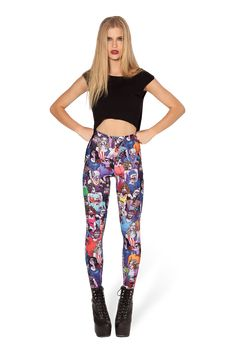 Zombie Nation HWMF Leggings by Black Milk Clothing