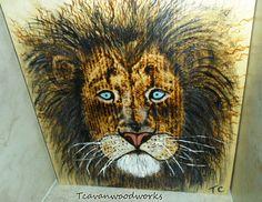 lion wall art, lion painting lion mane, leo,  pyrography art, acrylic lion, lion art, safari animal painting fantasy lion #lionpainting #metallicpainting #goldlion