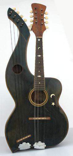 Harp Mandolin Probably by Knutsen #LardysChordophoneOfTheDay #Mandolin ~ https://www.pinterest.com/lardyfatboy/lardys-other-fretted-chordophones-of-the-day/ ~