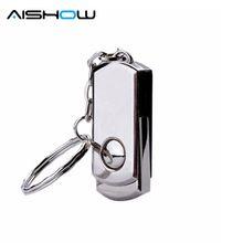 the best Quality Flash card Rotating metal usb flash drive  64GB 32gb stainless steel Usb disk pen drive 2tb 2.0 usb