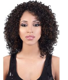 Tintin Synthetic Wig by Motown Tress - African American Wigs - Best Wig Outlet® Permed Hairstyles, African Hairstyles, Hairstyles With Bangs, Weave Hairstyles, Black Hairstyles, Haircuts, Curly Hair Cuts, Curly Hair Styles, Natural Hair Styles