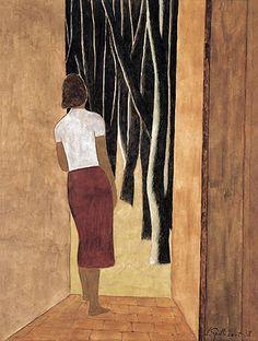 Open Door (by Léon Spilliaert - Belgian Painter, 1881-1946)
