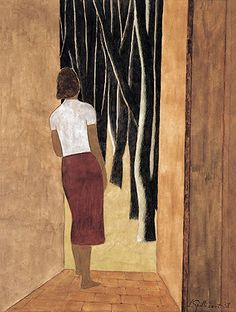 Open Door (by Léon Spilliaert - Belgian Painter, 1881-1946)