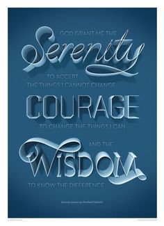 Top 10: Serenity Prayer typography posters for sale. – www.posterama.co