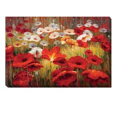 <li>Artist: Lucas Santini</li><li>Title: Meadow Poppies II</li><li>Product Type: Canvas Art</li>
