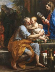 Joseph with the Christ Child Catholic Art, Catholic Saints, Religious Art, A4 Poster, Poster Prints, Rennaissance Art, Web Gallery Of Art, Biblical Art, Holy Family