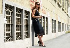 Sexy and romantic LBD - lace works everytime.  Street-Style Photographer Tommy Ton Shoots the Menswear Scene
