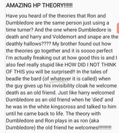 Um no... Dumbledore was also his friend... and the theory about Dumbledore and Ron being the same person???? You can't make up a theory because someone's a redhead