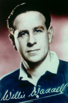 Rangers winger Willie Waddell in 1955.