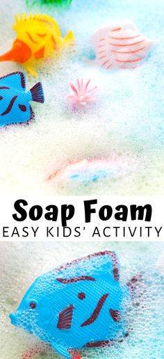 Looking for the easiest way to help your kids who are struggling with sensory processing during this time of stay at home orders? Create this simple and fun soap foam for kids to use! Your kindergartner and elementary aged kids will love to explore and learn with a soft and easy to play with soap foam. Perfect for getting their imaginations rolling and helping them with sensory processing. A great kid activities for your preschool aged kids!  #SensoryPlay #SoapFoam #KidActivities