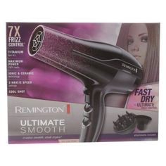 Remington Ultimate Smooth Hair Dryer, D5950, Black
