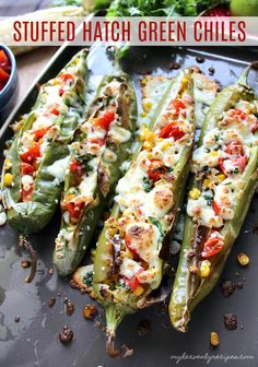 The flavors that you find in this Stuffed Hatch Green Chile will blow your mind! Mexican Dishes, Mexican Food Recipes, Gourmet Recipes, Appetizer Recipes, Vegetarian Recipes, Cooking Recipes, Appetizers, Hatch Green Chili Recipe, Green Chili Recipes
