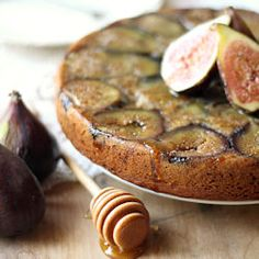 Olive Oil Tea Cake, Sweetened with Honey and Figs, and lightly Scented with Orange and Cardamom. Prepare to fall in love!