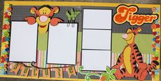 Disney Scrapbook Page Layout -- Tigger Love Scrapbook, Disney Scrapbook Pages, Scrapbook Sketches, Scrapbook Page Layouts, Scrapbook Cards, Scrapbook Templates, Scrapbooking Ideas, Walt Disney, Disney Time