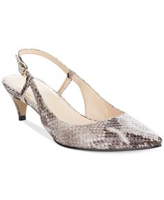ec56b569d18 Cole Haan Juliana Sling 45 Kitten Heel Pumps Shoes - Pumps - Macy s
