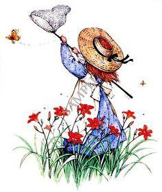 Holly Hobbie.....Catching Butterflies