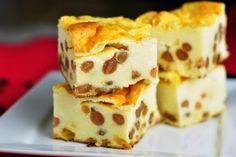 Fit mliečny rez bez múky a cukru Healthy Deserts, Healthy Sweets, Good Food, Yummy Food, Czech Recipes, Gluten Free Cakes, Healthy Cookies, Sweet Cakes, Desert Recipes
