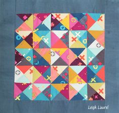 Scrappy Triangle project using Handcrafted Fabric by Karin Jordan