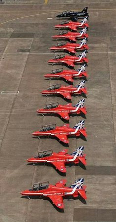 The British Royal Air Force - Red Arrows at RIAT July 2014