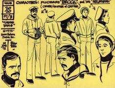 Alex Toth animation model sheet 1, in JerryLando's TOTH Comic Art Gallery Room - 102091