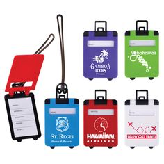 SUITCASE SHAPED LUGGAGE TAGS - PROMOTIONAL IMPRINT - Paws 2 Purrfection, LLC - Promotions, Displays & More