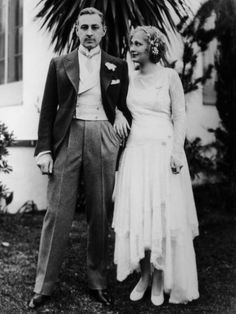 1928: American actor John Barrymore with his wife Dolores Costello (Drew Barrymore's Grandparents)