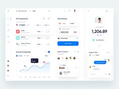 Banking App Dashboard by Golo on Dribbble