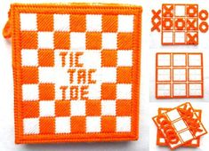 Scotch, Tic Tac Toe Game, 4 Ply Yarn, Tote Storage, Different Games, Plastic Canvas Crafts, Game Pieces, Mild Soap, Main Colors