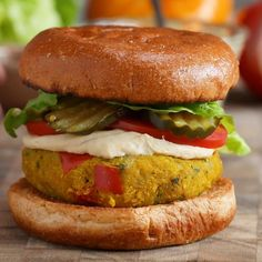 Cauliflower & Chickpea Burgers Recipe by Tasty