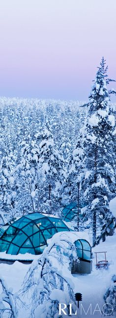 This is the Kakslauttanen Arctic Resort, a lush winter wonderland in the middle of nowhere.  Read more on Ralph Lauren Magazine.