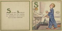 Spoelen: ABC over de tanden / geïllustreerd door F.H. Abbing. - [Rotterdam] ; Nederlandsche Vereeniging tot bestrijding van het tandbederf, [1931]. Aanvraagnummer: BJ 26819.