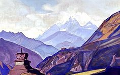 :: Nicholas Roerich :: virtual museum :: Gunram 1932. Tempera on canvas. 48.3 x 81.4 cm Museum of Oriental Art, Moscow