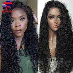 76.91$  Watch now - http://alijig.worldwells.pw/go.php?t=32731523686 - 7A Lace Front Human Hair Wigs Brazilian Kinky Curly Full Lace Human Hair Wigs 100% Front Lace Human Hair Wigs For Black Women