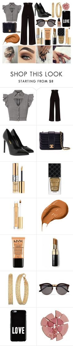 """Red Carpet"" by susanna-trad ❤ liked on Polyvore featuring Marissa Webb, Yves Saint Laurent, Chanel, Gucci, Kevyn Aucoin, Bobbi Brown Cosmetics, Charlotte Russe, GUESS, Illesteva and Givenchy"