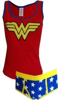 58d3d3d534 WebUndies.com Dc Comics Wonder Woman Ribbed Tank  amp  Panty Set Wonder  Woman Logo