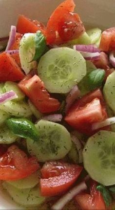 Marinated Cucumbers, Onions, and Tomatoes – Memories With Dishes