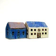 Ceramic Sculpture  Blue House  Spring Decor by BlueMagpieDesign, $38.95