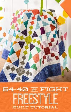 or Fight Freestyle Quilt - looks like it has curves but really only has 2 different blocks; no template required; use a layer cake.want to try this one with help selecting fabric! Missouri Star Quilt Tutorials, Quilting Tutorials, Quilting Projects, Quilting Designs, Quilting Tips, Diy Projects, Star Quilts, Easy Quilts, Quilt Blocks