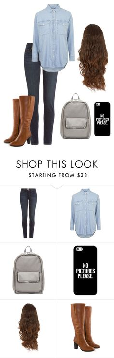 """Untitled #24"" by mablemirkwood ❤ liked on Polyvore featuring Paige Denim, Topshop, STELLA McCARTNEY, Casetify and Jilsen Quality Boots"