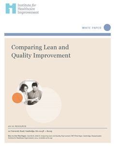 Comparing LEAN and Quality Improvement via @theIHI