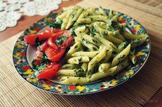 Makaron ze szpinakiem - propozycja na szybki obiad penne with spinac
