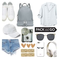 """""""Pack And Go"""" by artwonders97 ❤ liked on Polyvore featuring One Teaspoon, Yves Saint Laurent, MICHAEL Michael Kors, Beats by Dr. Dre, rag & bone and Rianna Phillips"""
