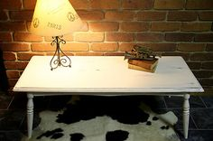 FRENCH PROVINCIAL SHABBY CHIC COFFEE TABLE LARGE SIZE, ANTIQUE WHITE