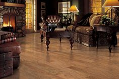 Brandymill Uniclic - Hickory Copper in Mohawk Flooring Hardwood