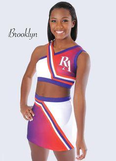 School Cheerleading Uniform by Rebel Athletic - I like the unique straps
