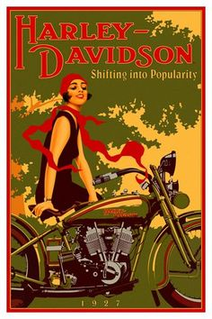 Old Harley-Davidson poster, really like the style