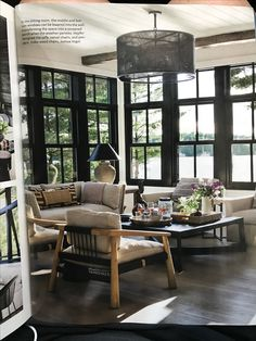 Interior Designer Anne Hepferu0027s Modern Rustic Summer Lake House In Muskoka.